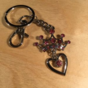Crown and Heart with Pink Diamonds Glitz Key Charm CH201 – Retail Price Shown Below
