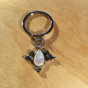 White Opalescent Angel Glitz Key Charm CH233- Retail Price Shown Below