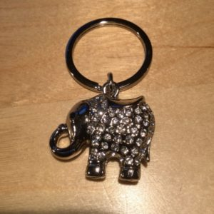 Elephant with White Crystals Glitz Key Charm CH229 – Retail Price Shown Below