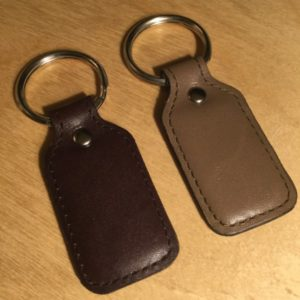 Rectangular Padded Leather Key Fob L0150T – Retail Price Shown Below
