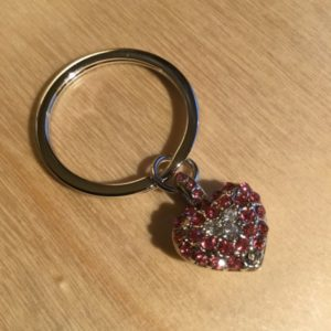 Small Heart with Pink and White Diamonds Glitz Key Charm CH212 – Retail Price Shown Below