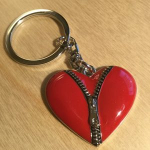 Red Zipper Heart Key Charm CH213 – Retail Price Shown Below