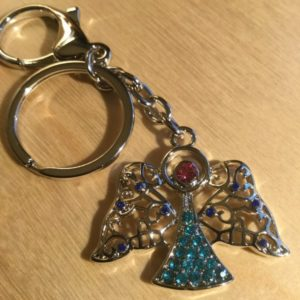 Angel with Pink and Blue Crystals Glitz Key Charm CH220 – Retail Price Shown Below