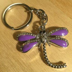 Dragonfly with White Diamonds Glitz Key Charm CH205 – Retail Price Shown Below