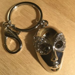 Mask with White Crystals Glitz Key Charm CH232 – Retail Price Shown Below