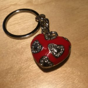 Red Heart with White Diamonds Glitz Key Charm CH209 – Retail Price Shown Below