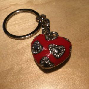 Red Heart with White Diamonds Glitz Key Charm CH209 – Retail Price Shown Below