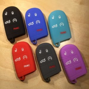 Chrysler Dodge Ram Jeep Silicone 5 Button  Key Cover SILCDJR004 – Retail Price Shown Below