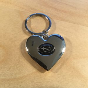 Heart Shaped Brushed Chrome Silver Key Holder S7926 – Retail Price Shown Below