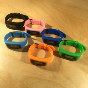 Silicone Wristband Pedometer PED001- Retail Price Shown Below