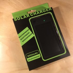 Solar Power Charger And Power Bank for Smart Phones and Tablets SOLARCHARG001 – Retail Price Shown Below