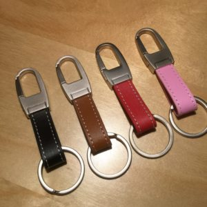 Brushed Satin Snap Strap Head Leather Key Holder SL9008 – Retail Price Shown Below