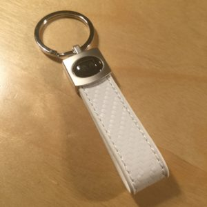 Brushed Satin w/ Leather Strap Key Holder SL9007*- Retail Price Shown Below