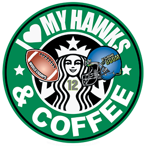 Crew T-Shirt I Love My Hawks & Coffee Size Large – Retail Price Shown Below