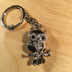Owl with White Crystals Glitz Key Charm CH222 – Retail Price Shown Below