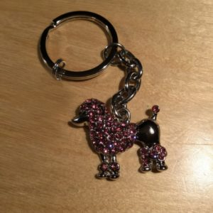 Poodle with Pink Diamonds Glitz Key Charm CH211 – Retail Price Shown Below
