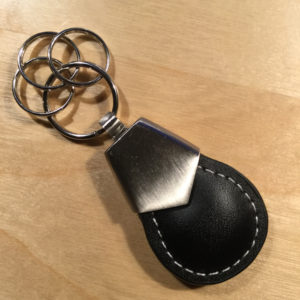Brushed Satin Three Rings Leather Key Holder SL8900 – Retail Price Shown Below